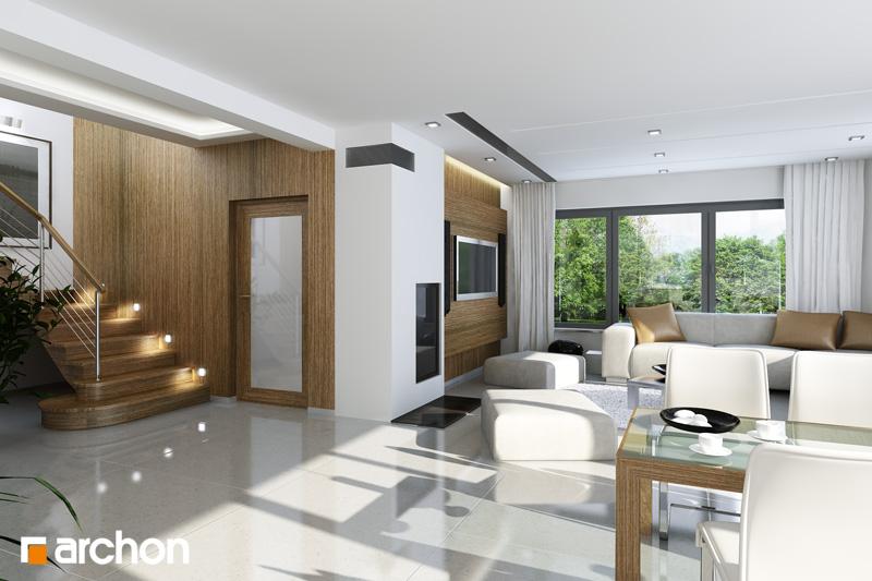Проект будинку ARCHON+ Будинок в чорнушках (Г) денна зона (візуалізація 1 від 1)