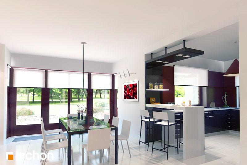 Проект будинку ARCHON+ Будинок в чорнушках (Г) денна зона (візуалізація 2 від 1)