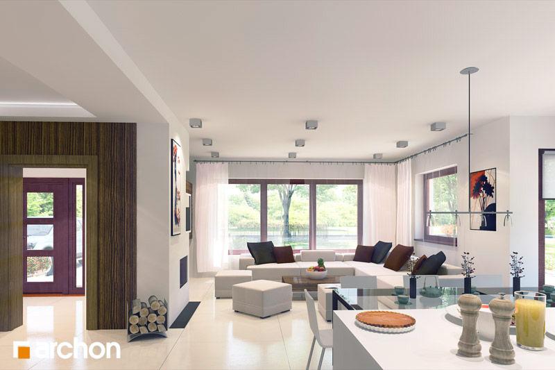Проект будинку ARCHON+ Будинок в чорнушках (Г) денна зона (візуалізація 2 від 2)