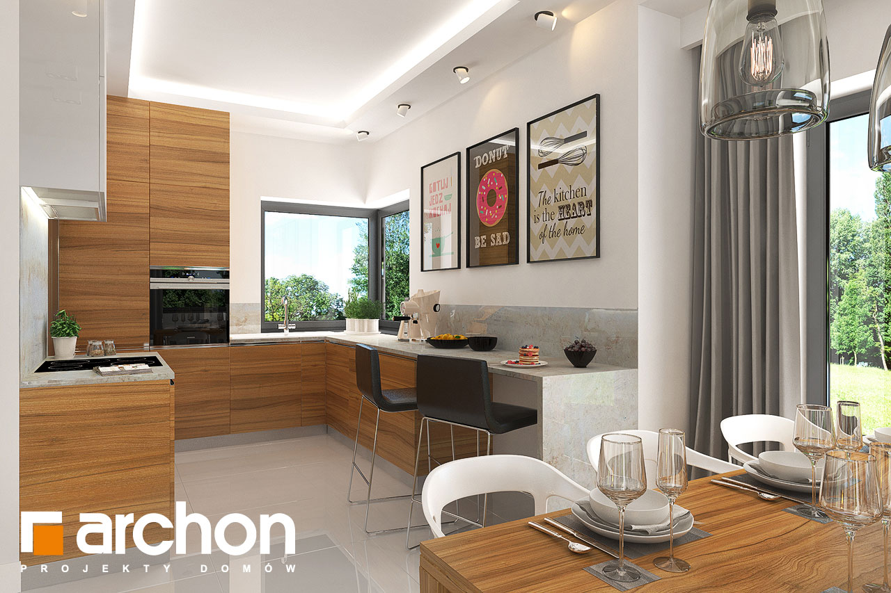 Проект будинку ARCHON+ Будинок в грушках (Г) візуалізація кухні 1 від 1