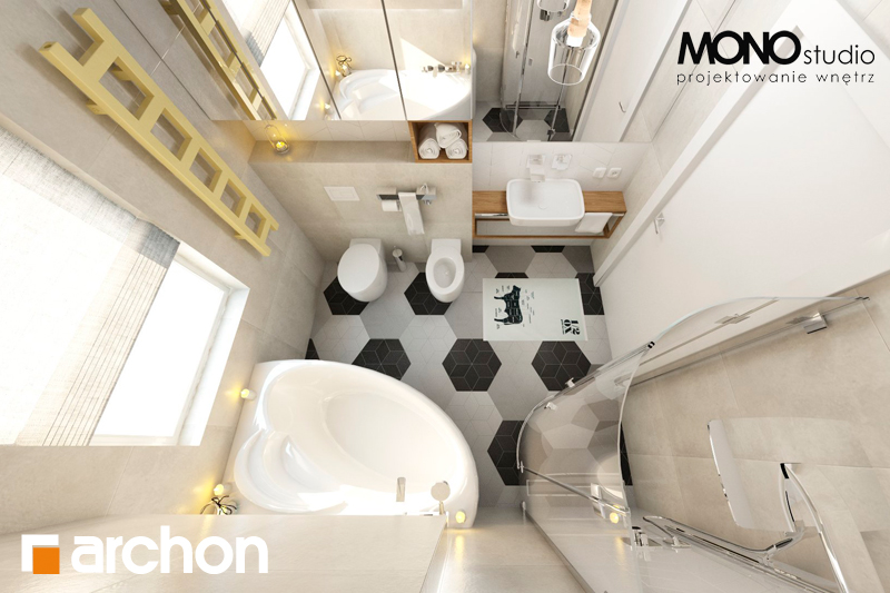 Проект будинку ARCHON+ Будинок в грушках (Г) візуалізація ванни (візуалізація 1 від 5)