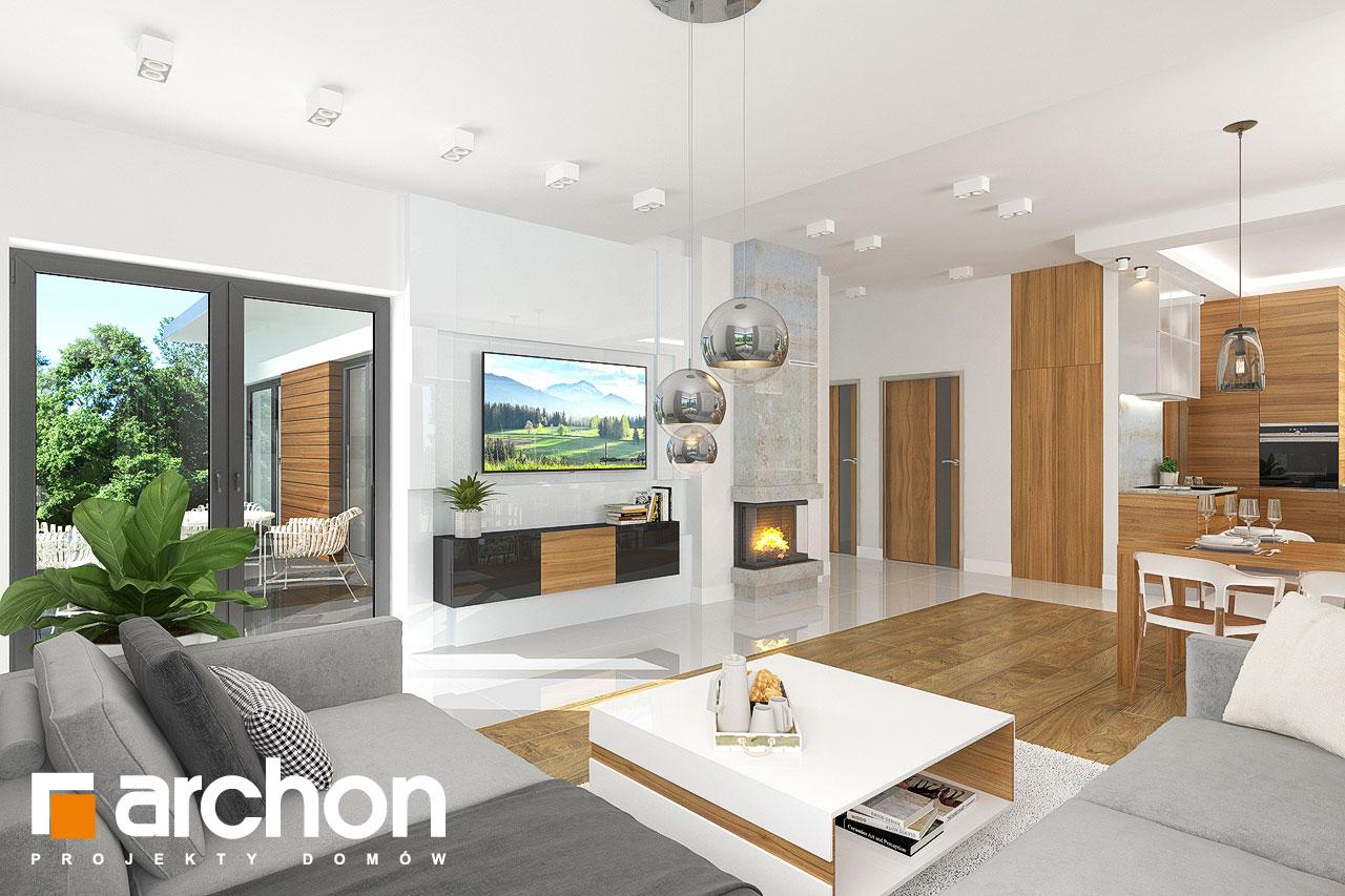 Проект будинку ARCHON+ Будинок в грушках (Г) денна зона (візуалізація 1 від 2)