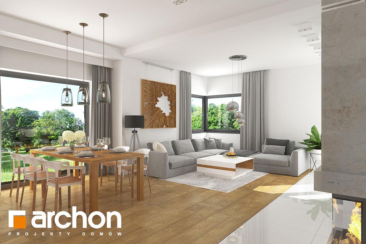 Проект будинку ARCHON+ Будинок в грушках (Г) денна зона (візуалізація 1 від 5)