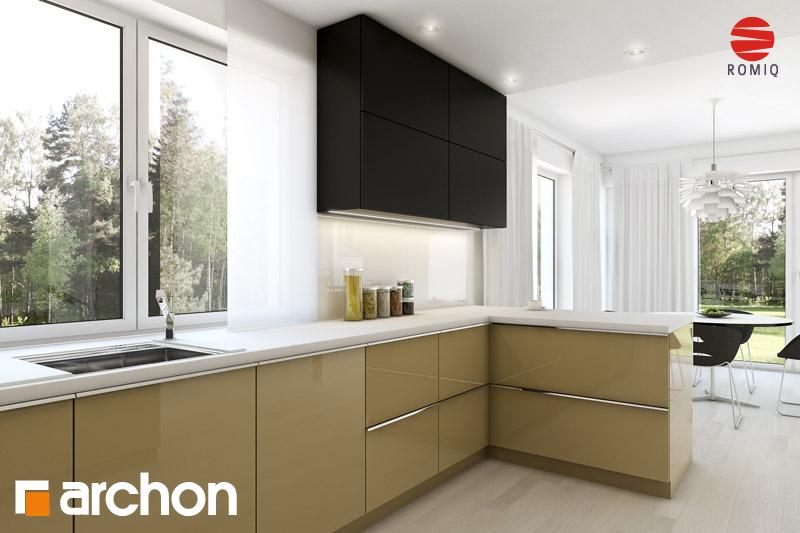 Проект будинку ARCHON+ Будинок в айдаредах 4 (П) візуалізація кухні 1 від 1