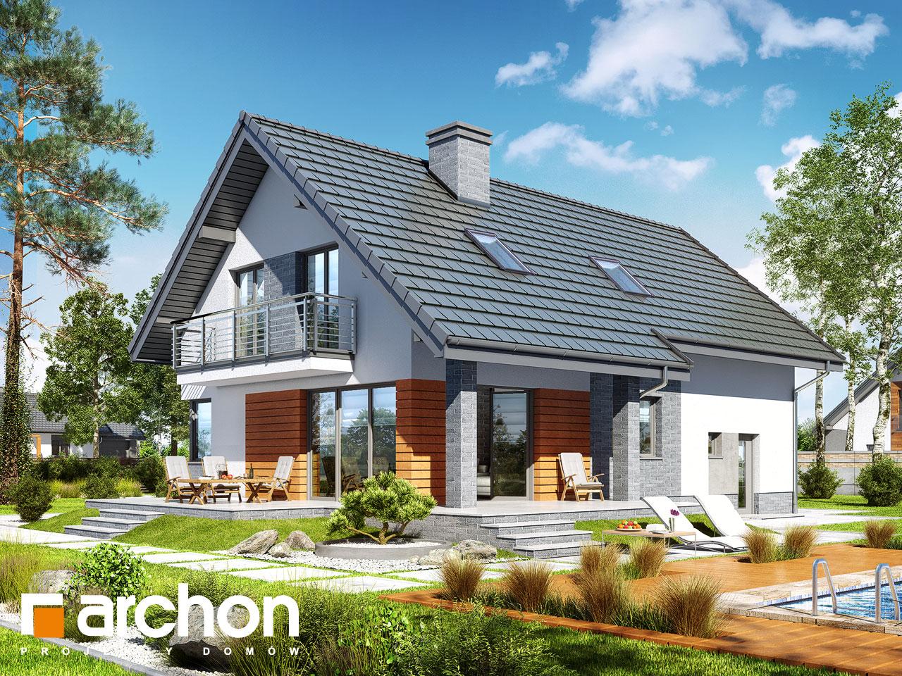 Проект будинку ARCHON+ Будинок в айдаредах 4 (П) Вид 2