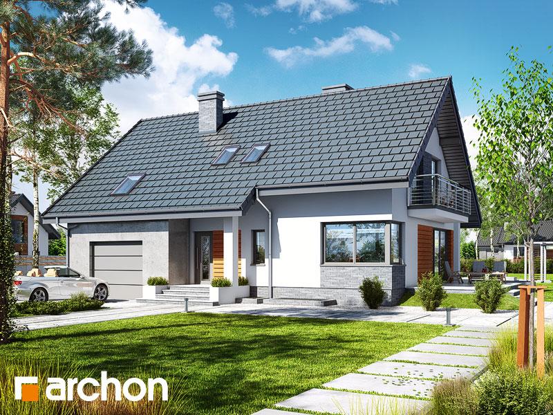 Проект будинку ARCHON+ Будинок в айдаредах 4 (П) Вид 1