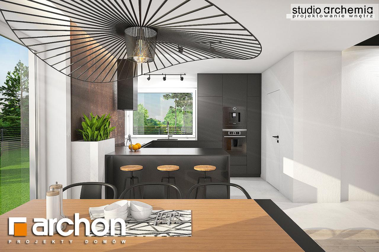 Проект дома ARCHON+ Дом в аурорах 6 визуализация кухни 1 вид 1