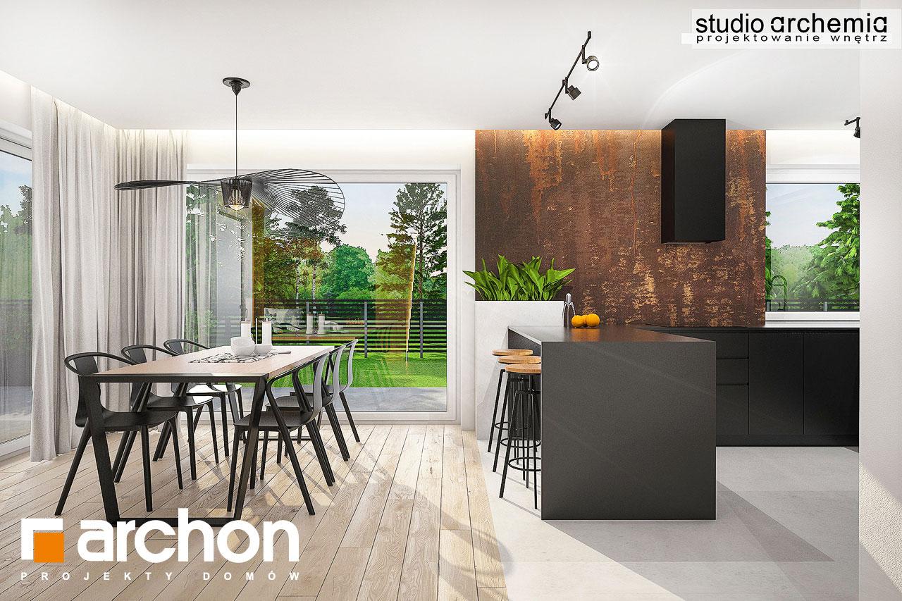 Проект дома ARCHON+ Дом в аурорах 6 визуализация кухни 1 вид 3