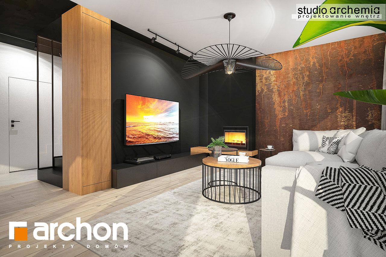 Проект дома ARCHON+ Дом в аурорах 6 дневная зона (визуализация 1 вид 1)