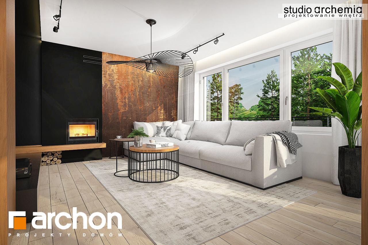 Проект дома ARCHON+ Дом в аурорах 6 дневная зона (визуализация 1 вид 2)