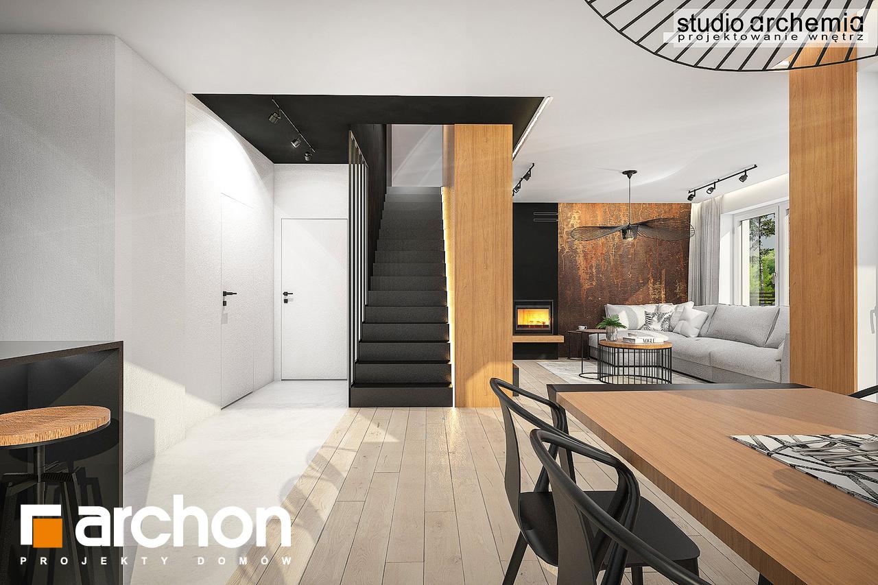Проект дома ARCHON+ Дом в аурорах 6 дневная зона (визуализация 1 вид 3)