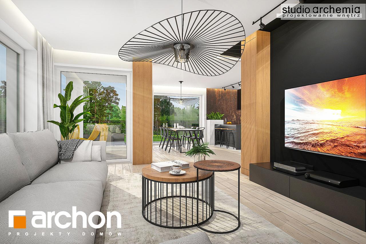 Проект дома ARCHON+ Дом в аурорах 6 дневная зона (визуализация 1 вид 4)