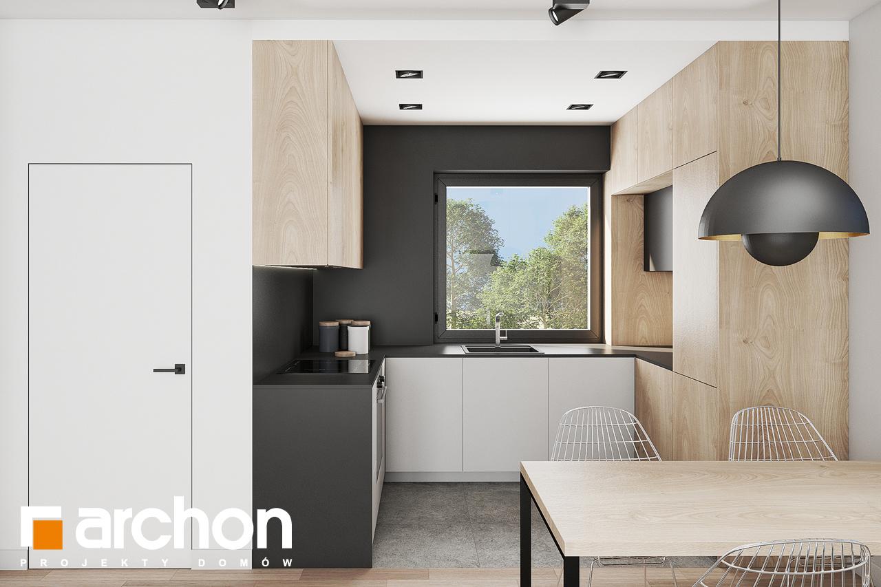 Проект будинку ARCHON+ Будинок в коручках 3 візуалізація кухні 1 від 1