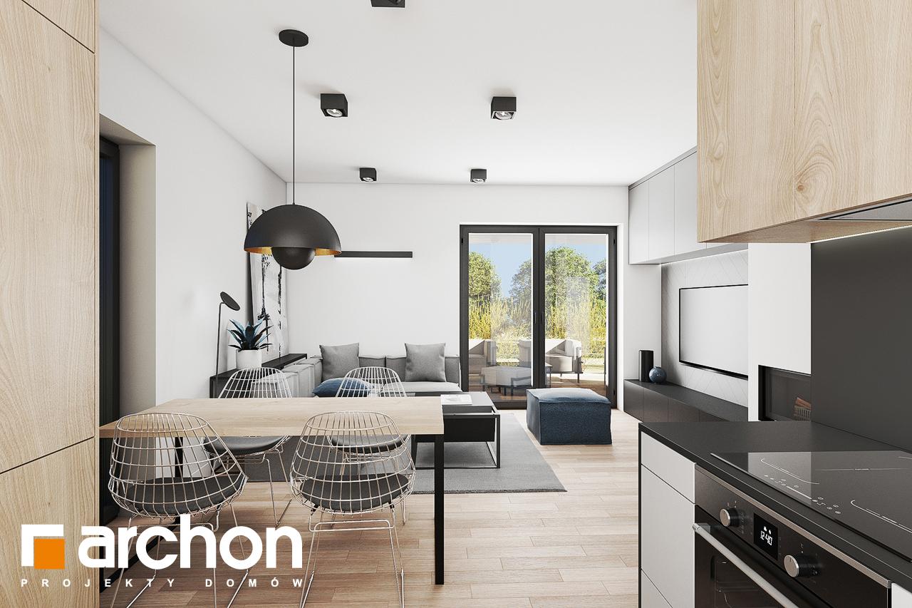 Проект будинку ARCHON+ Будинок в коручках 3 візуалізація кухні 1 від 2