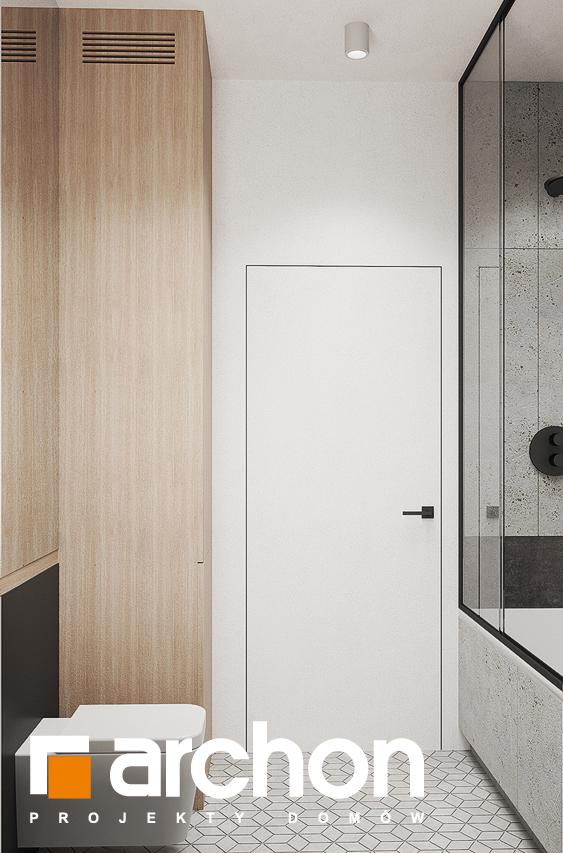 Проект будинку ARCHON+ Будинок в коручках 3 візуалізація ванни (візуалізація 3 від 3)