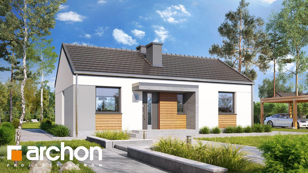 Проект будинку ARCHON+ Будинок в коручках 3 Вид 2