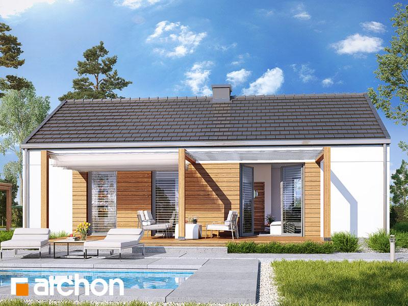 Проект будинку ARCHON+ Будинок в коручках 3 Вид 1
