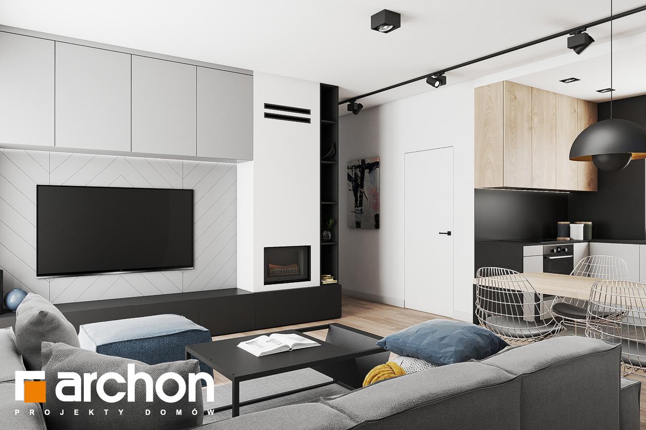 Проект будинку ARCHON+ Будинок в коручках 3 денна зона (візуалізація 1 від 1)