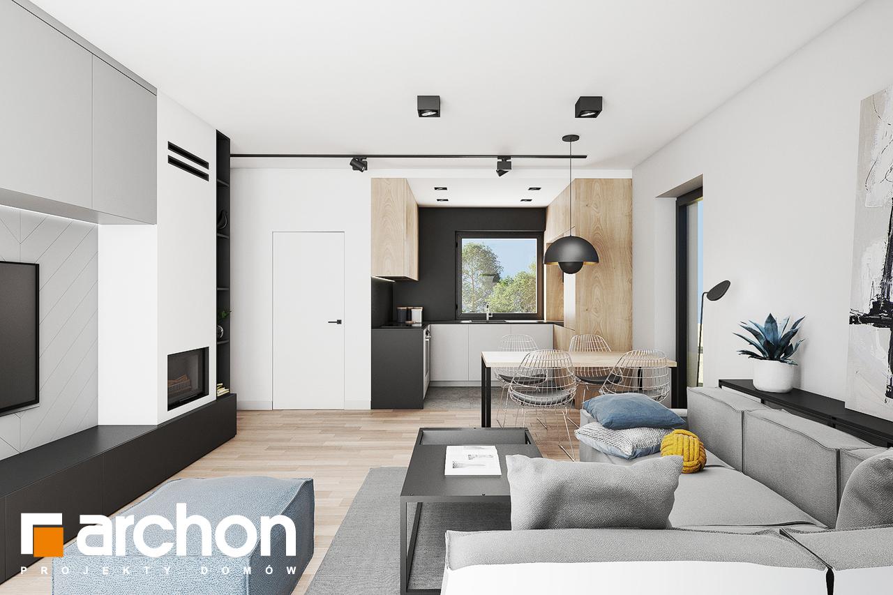 Проект будинку ARCHON+ Будинок в коручках 3 денна зона (візуалізація 1 від 3)