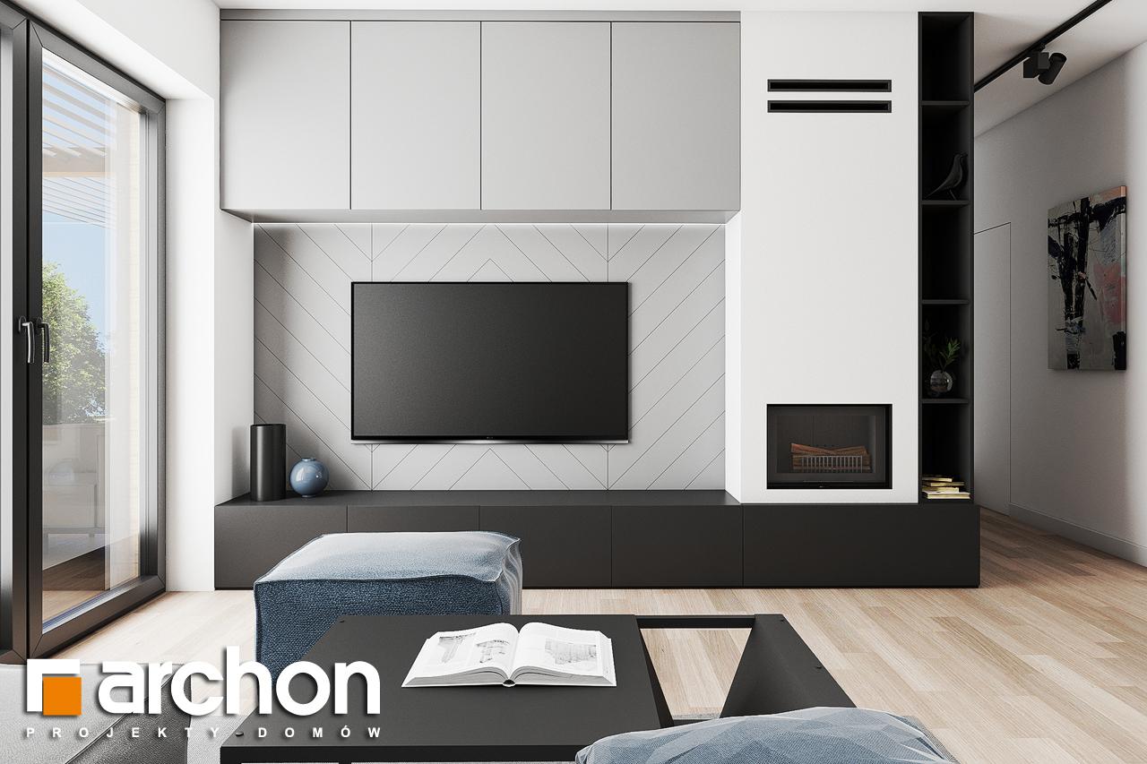 Проект будинку ARCHON+ Будинок в коручках 3 денна зона (візуалізація 1 від 4)