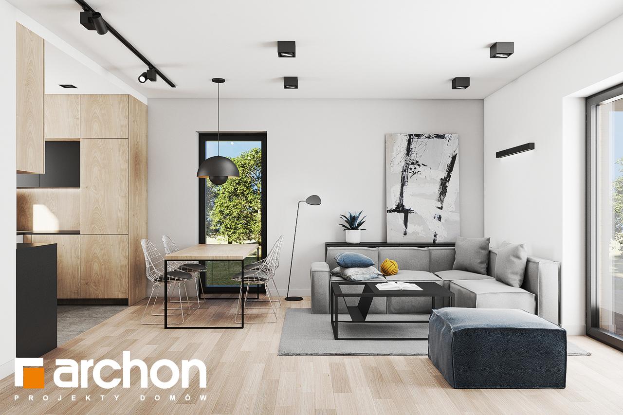 Проект будинку ARCHON+ Будинок в коручках 3 денна зона (візуалізація 1 від 5)