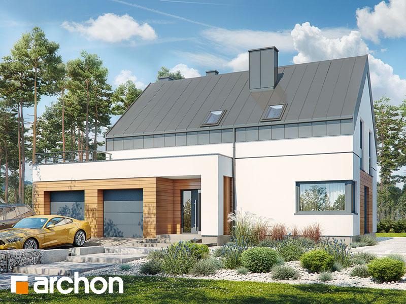 Проект дома ARCHON+ Дом в яблонках 8 (Г2Н) Вид 1