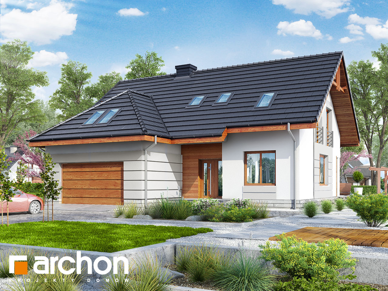 Проект будинку ARCHON+ Будинок в хмелю Вид 2
