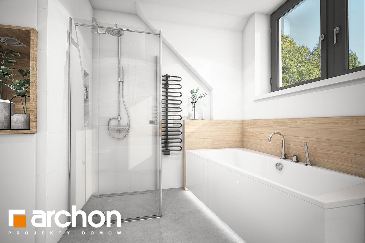 Проект будинку ARCHON+ Будинок в хлорофітумі 5 візуалізація ванни (візуалізація 3 від 3)