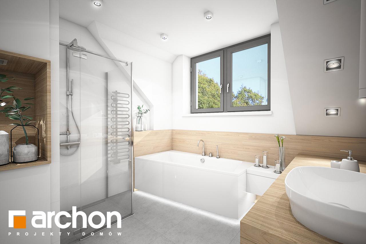 Проект дома ARCHON+ Дом в хлорофитуме 5 визуализация ванной (визуализация 3 вид 1)