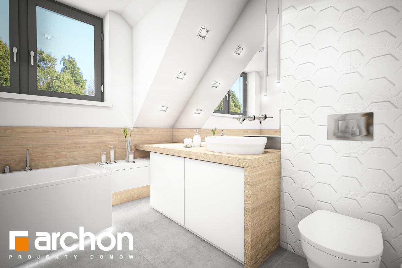 Проект дома ARCHON+ Дом в хлорофитуме 5 визуализация ванной (визуализация 3 вид 2)
