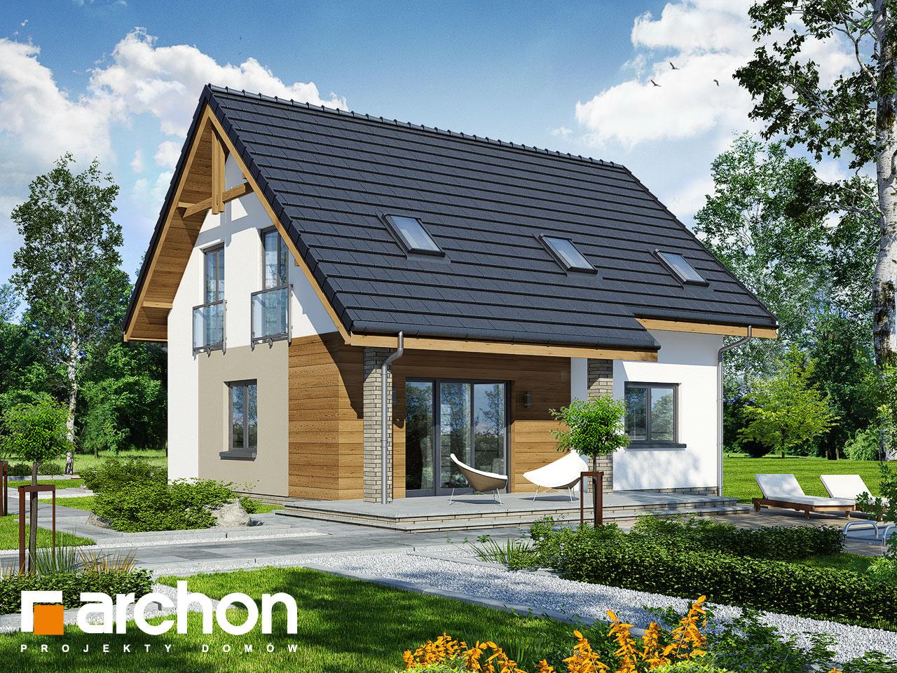 Проект будинку ARCHON+ Будинок в хлорофітумі 5 Вид 2