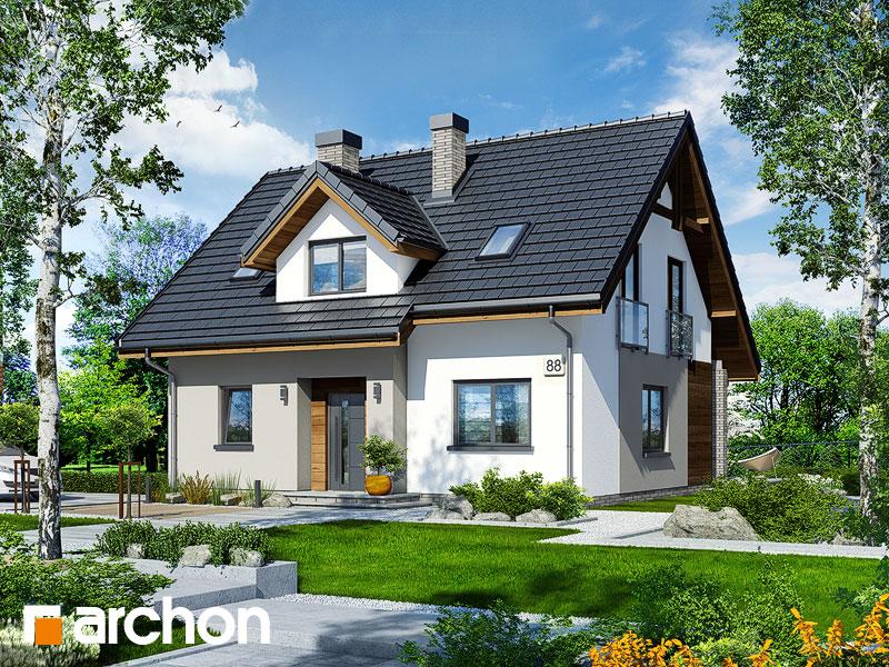 Проект будинку ARCHON+ Будинок в хлорофітумі 5 Вид 1