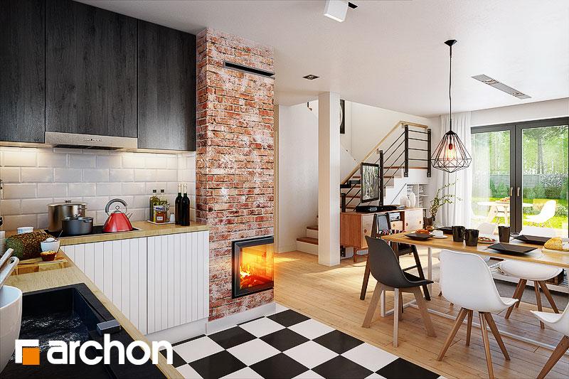 Проект дома ARCHON+ Дом в хлорофитуме 5 дневная зона (визуализация 1 вид 5)