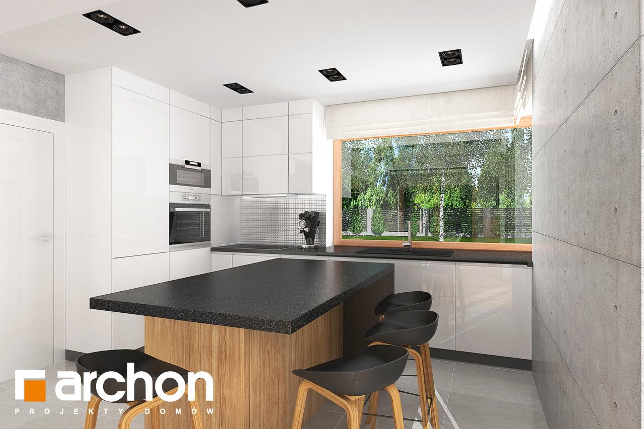 Проект будинку ARCHON+ Будинок в гранаділах візуалізація кухні 1 від 2