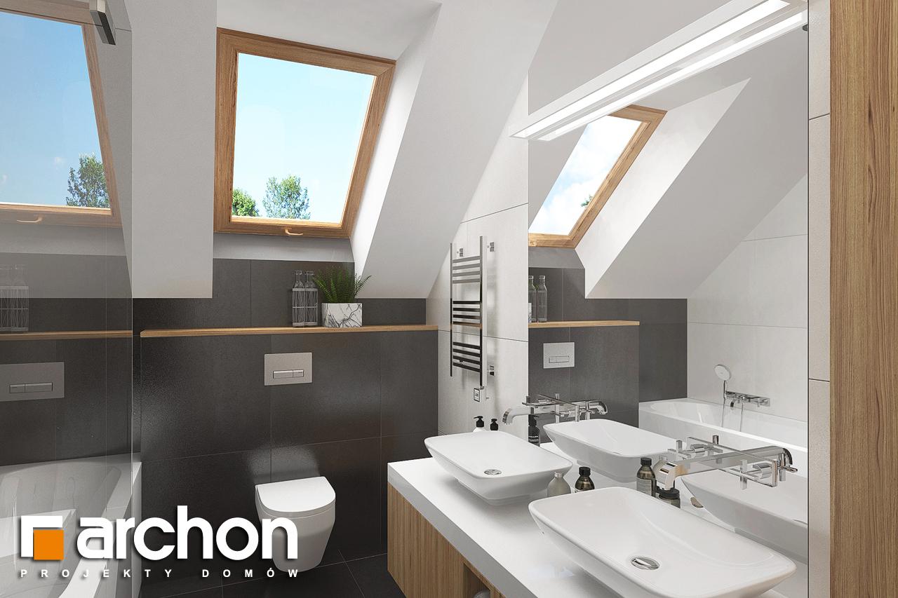 Проект будинку ARCHON+ Будинок в гранаділах візуалізація ванни (візуалізація 3 від 1)