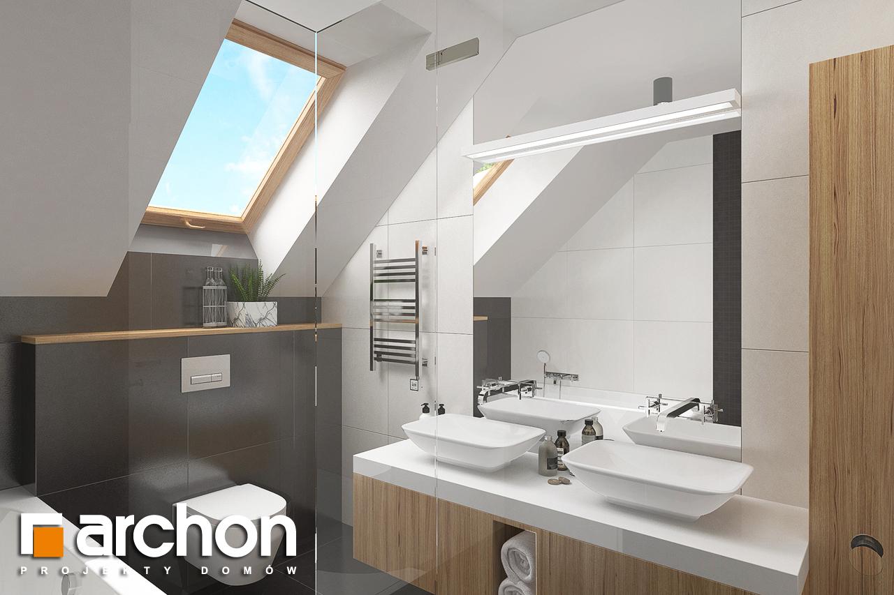 Проект будинку ARCHON+ Будинок в гранаділах візуалізація ванни (візуалізація 3 від 2)