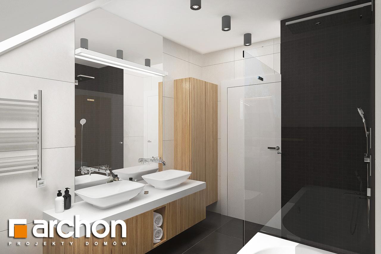 Проект будинку ARCHON+ Будинок в гранаділах візуалізація ванни (візуалізація 3 від 3)