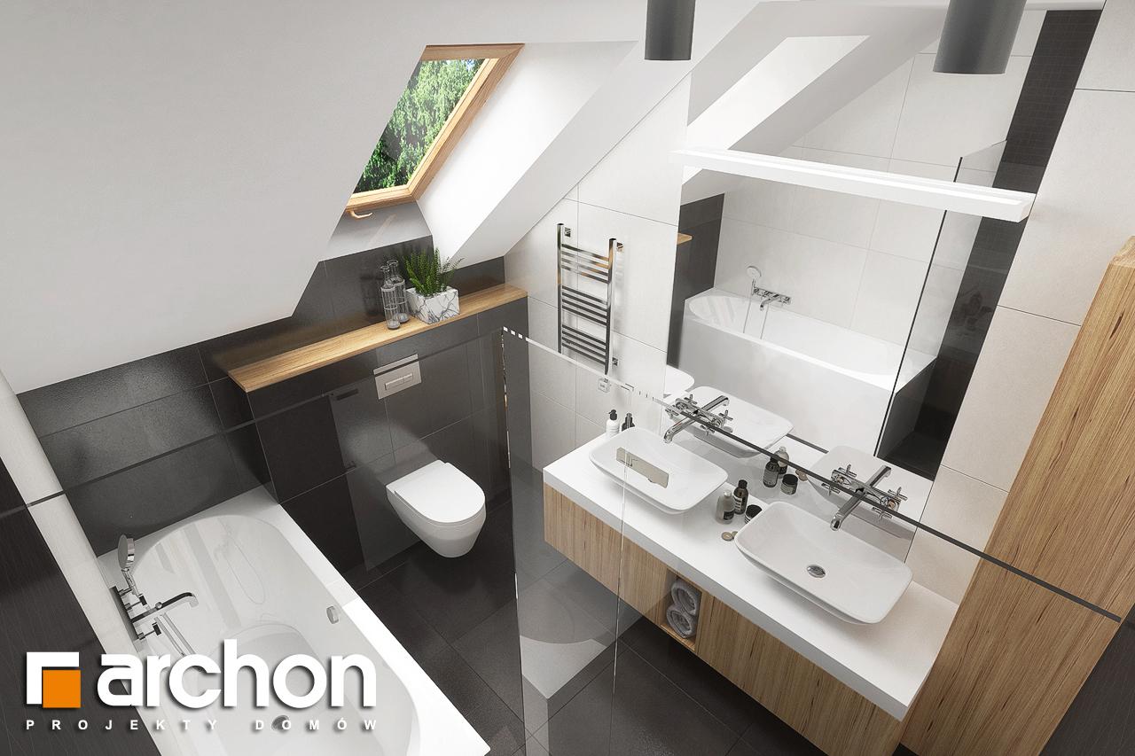Проект будинку ARCHON+ Будинок в гранаділах візуалізація ванни (візуалізація 3 від 4)
