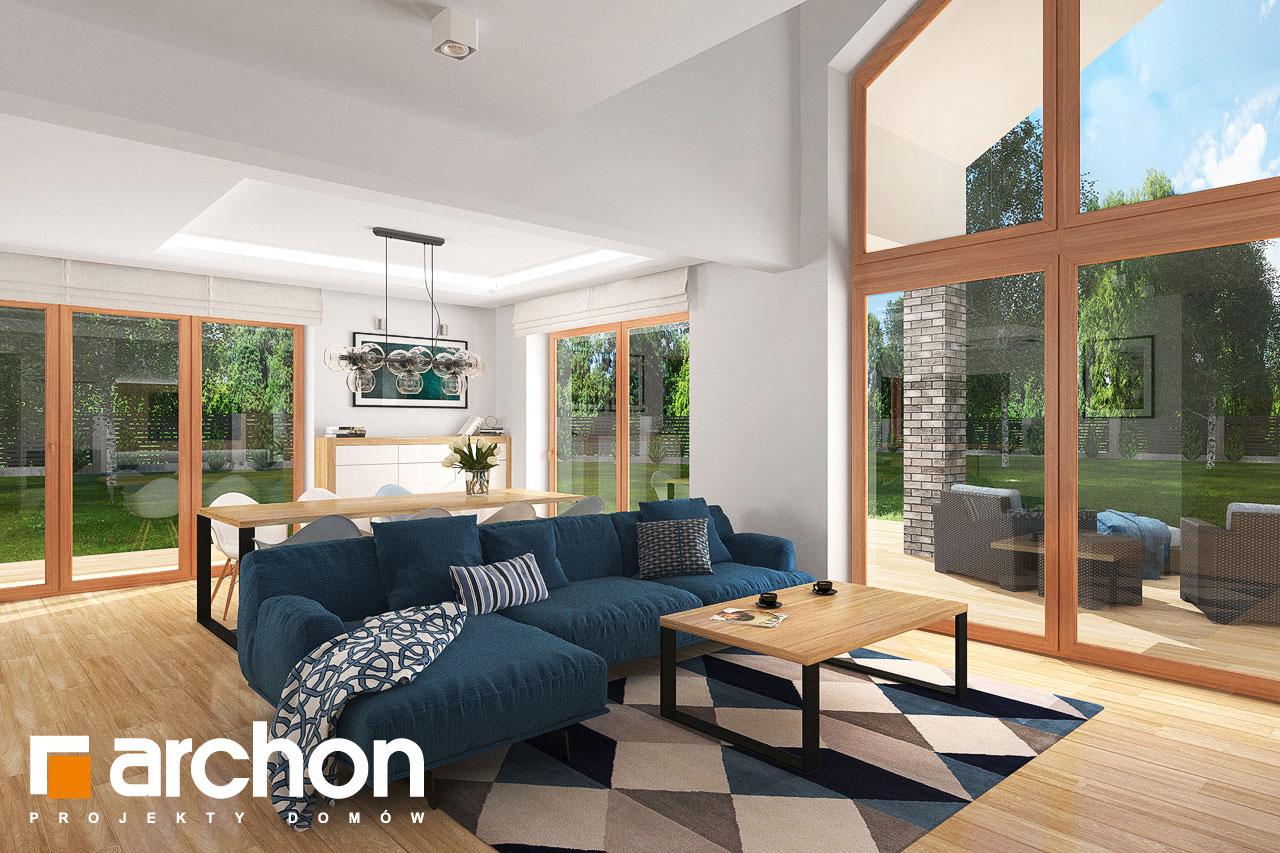 Проект будинку ARCHON+ Будинок в гранаділах денна зона (візуалізація 1 від 2)