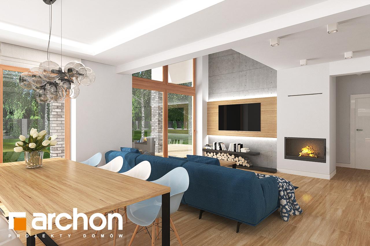 Проект будинку ARCHON+ Будинок в гранаділах денна зона (візуалізація 1 від 3)