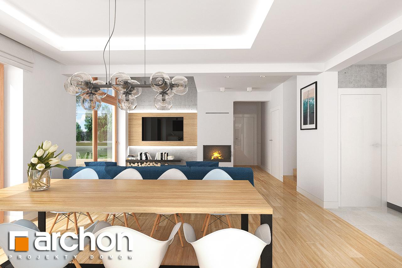 Проект будинку ARCHON+ Будинок в гранаділах денна зона (візуалізація 1 від 4)