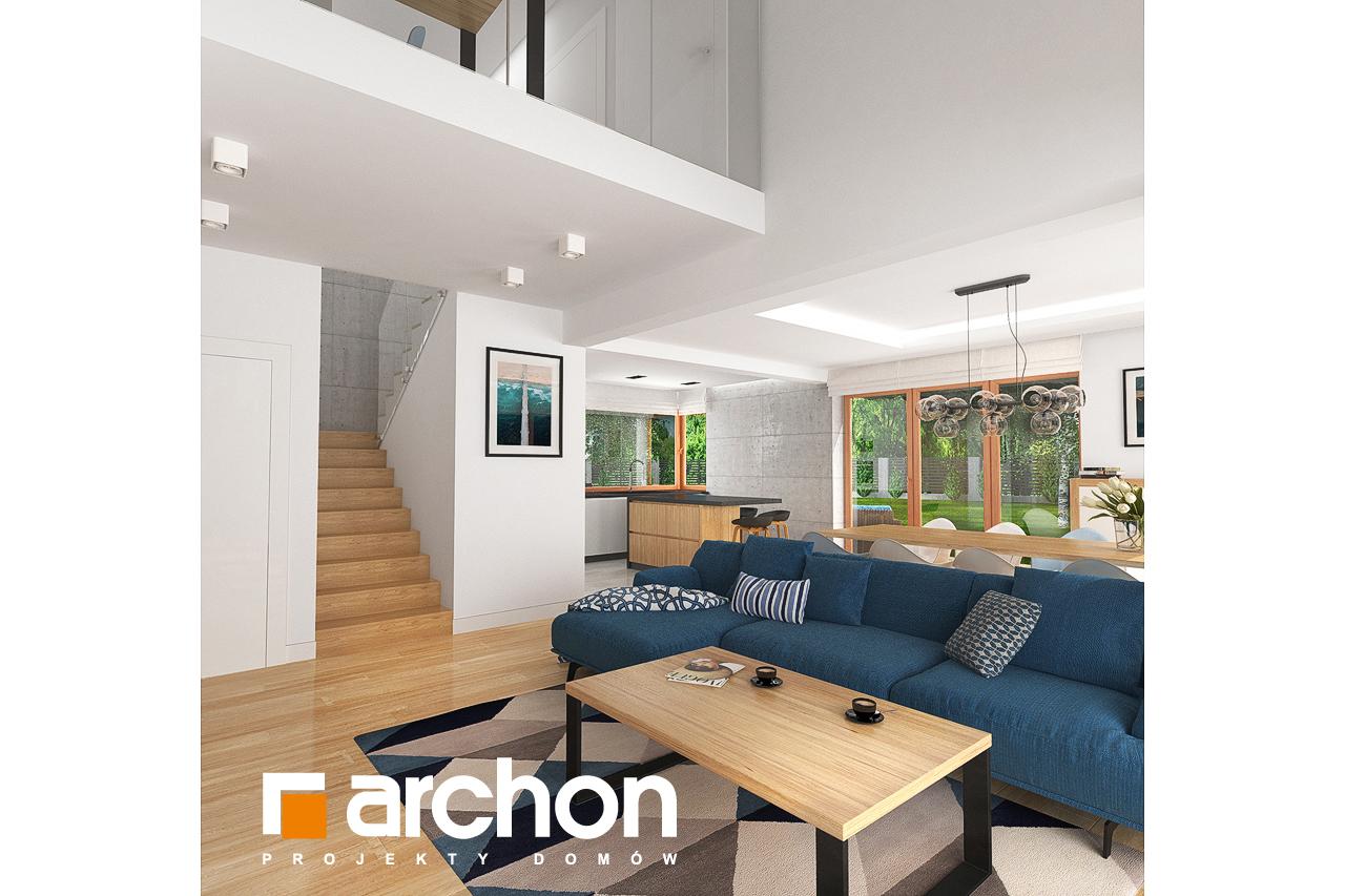 Проект будинку ARCHON+ Будинок в гранаділах денна зона (візуалізація 1 від 5)