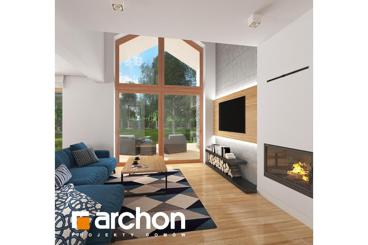 Проект будинку ARCHON+ Будинок в гранаділах денна зона (візуалізація 1 від 6)