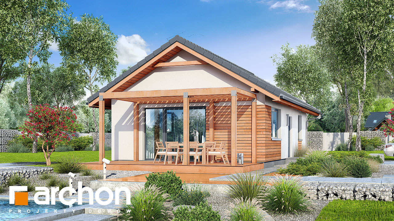 Проект будинку ARCHON+ Будинок в коручках