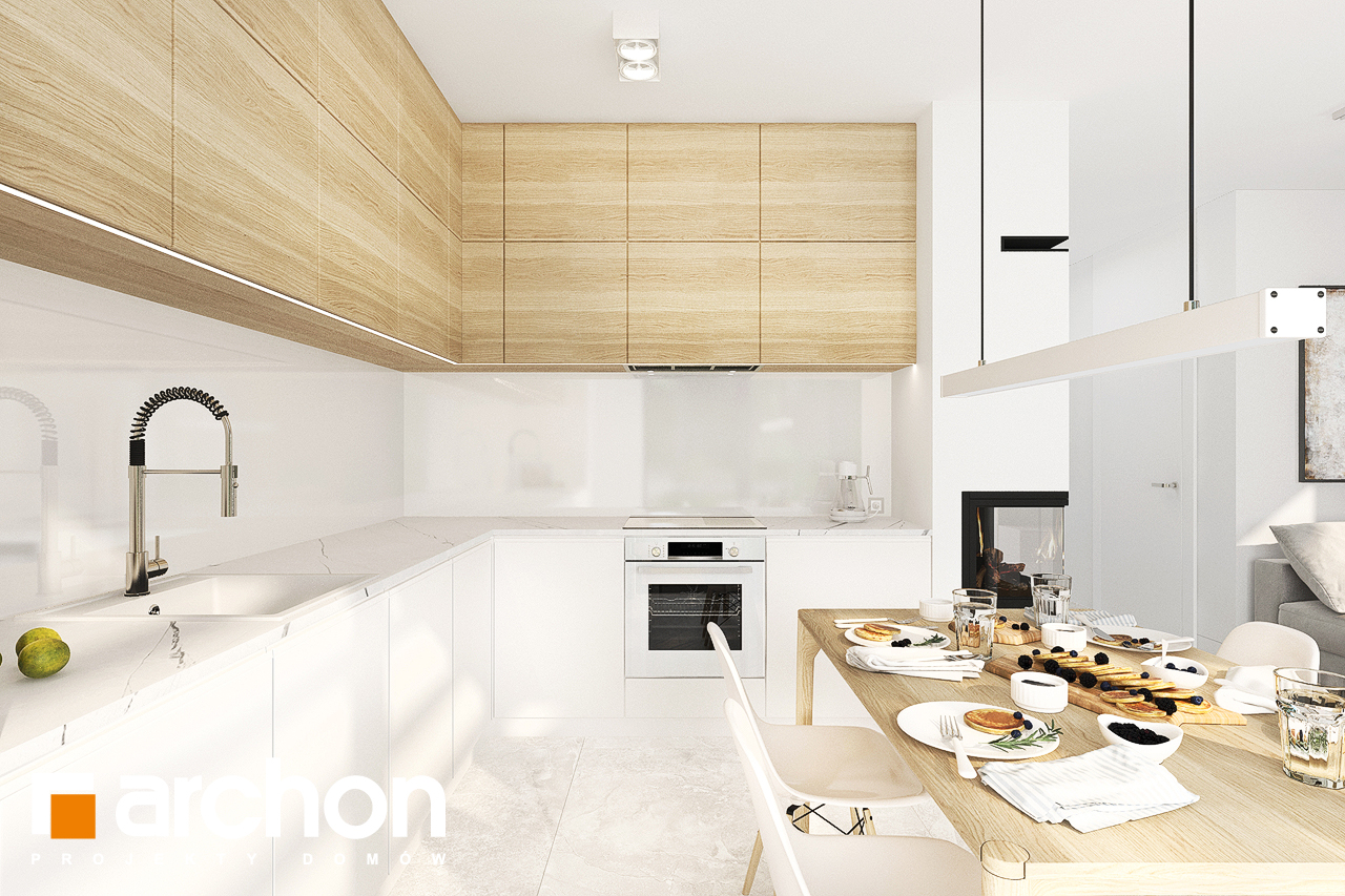 Проект будинку ARCHON+ Будинок в коручках візуалізація кухні 1 від 1