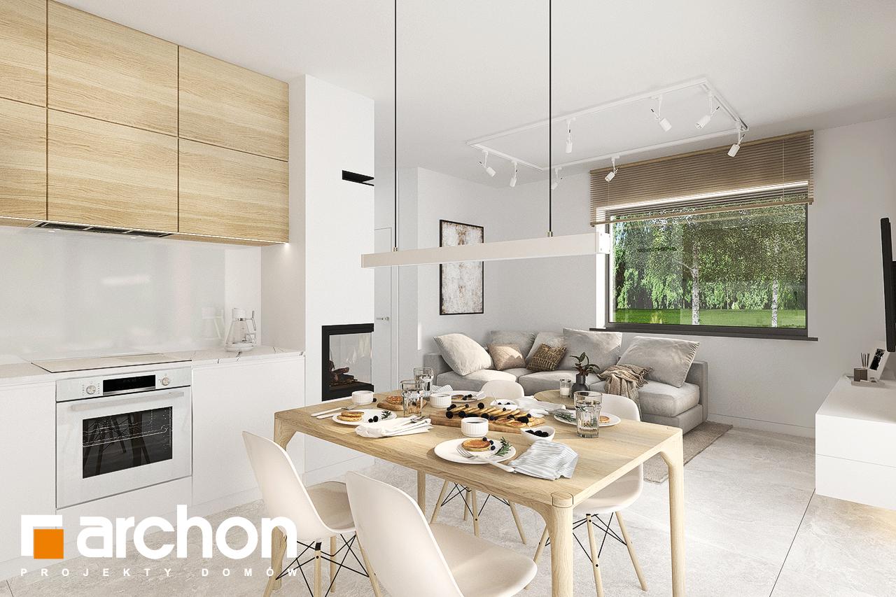 Проект будинку ARCHON+ Будинок в коручках візуалізація кухні 1 від 2