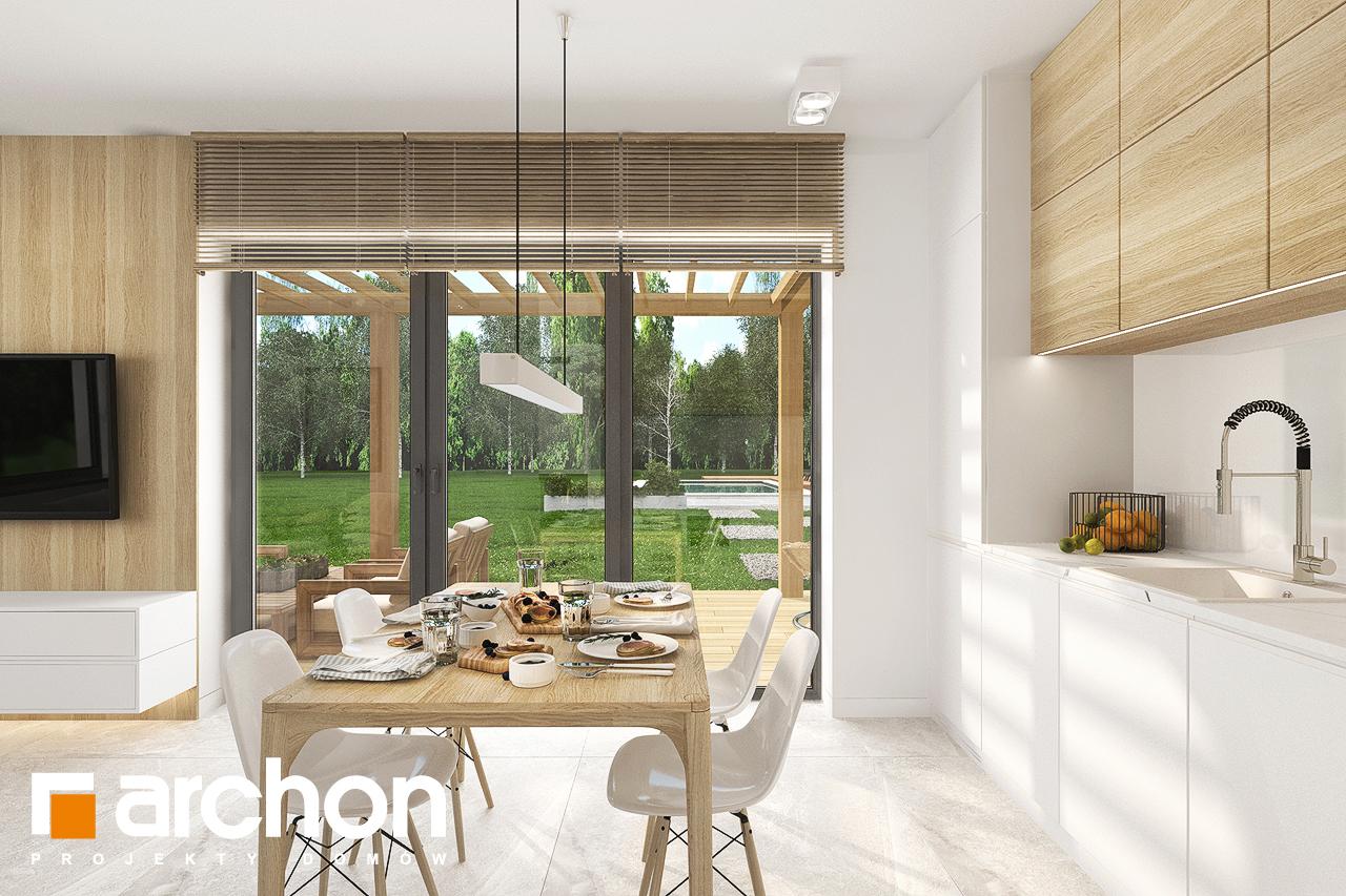 Проект будинку ARCHON+ Будинок в коручках візуалізація кухні 1 від 3