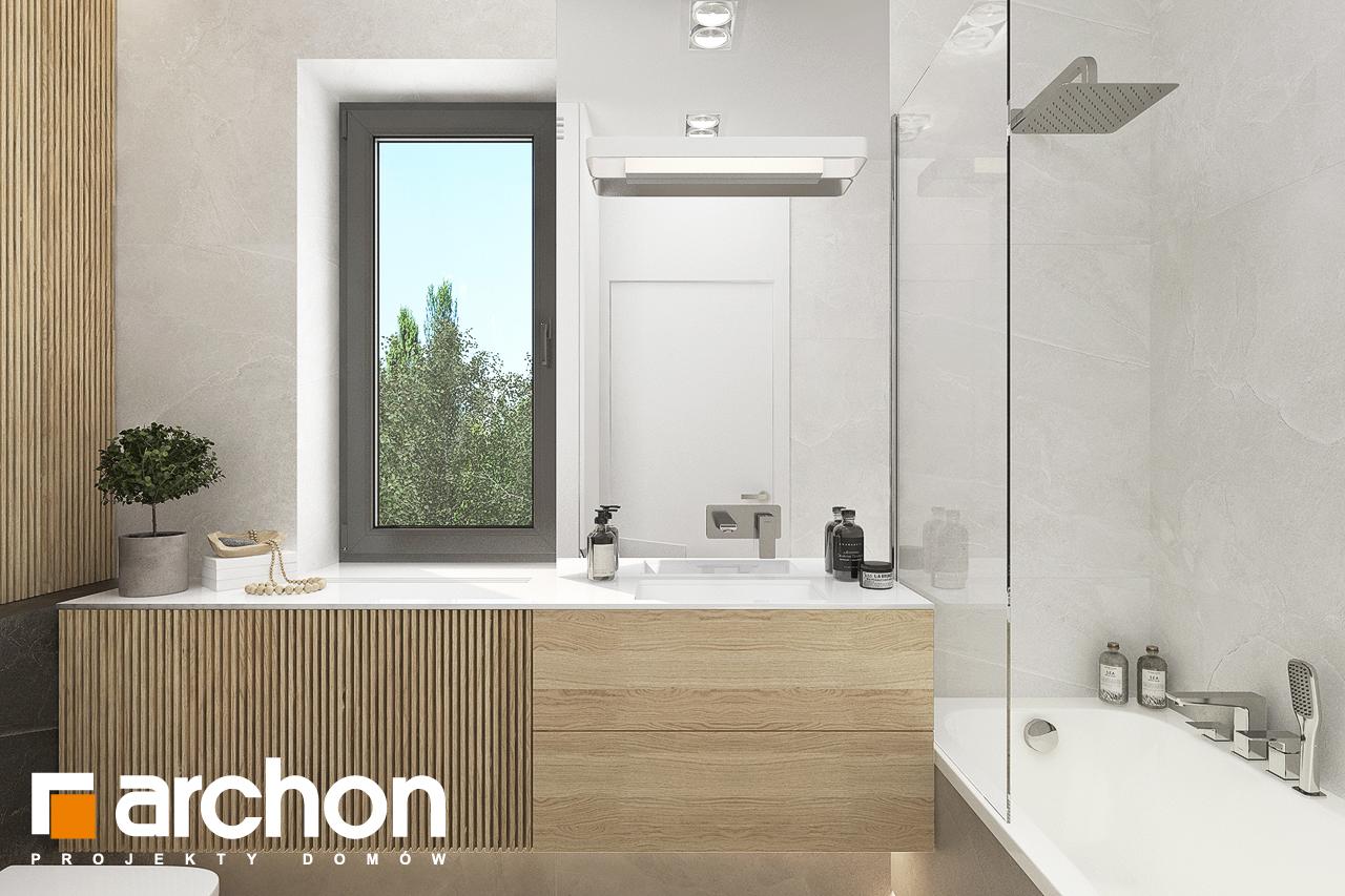Проект будинку ARCHON+ Будинок в коручках візуалізація ванни (візуалізація 3 від 1)