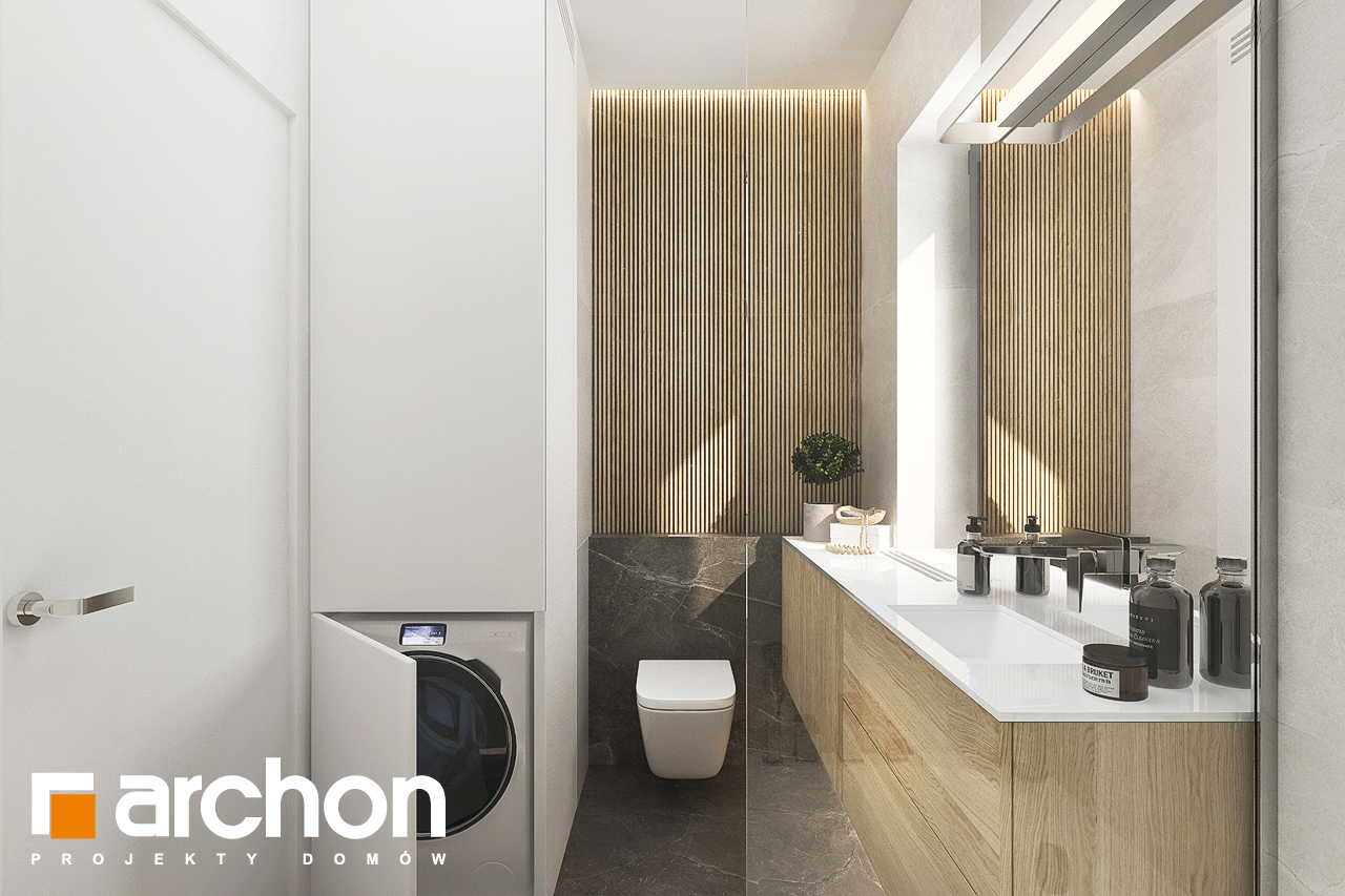 Проект будинку ARCHON+ Будинок в коручках візуалізація ванни (візуалізація 3 від 2)