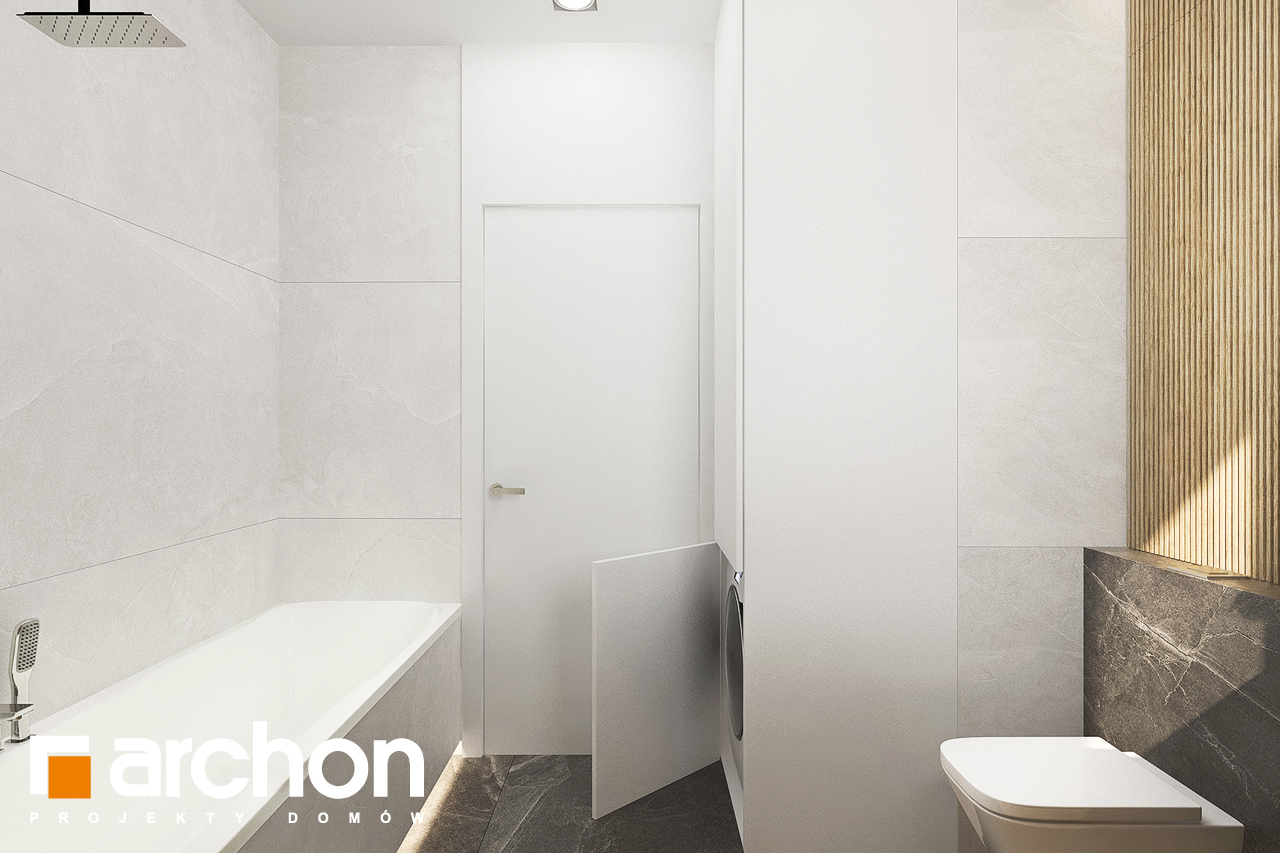 Проект будинку ARCHON+ Будинок в коручках візуалізація ванни (візуалізація 3 від 4)